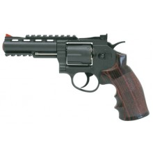 "Joy PISTOLA CO2 REVOLVER SOFTAIR 4"" FULL METAL NERA"
