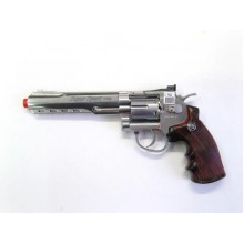 "Joy PISTOLA CO2 REVOLVER SOFTAIR 6"" NIKEL"