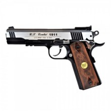 Joy PISTOLA CO2 SOFTAIR SCARRELLANTE NERA SILVER TIPO COLT 1911 METALLO